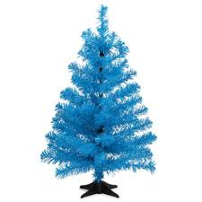 Blue Christmas Decorations Uk by Fluorescent Blue Christmas Tree