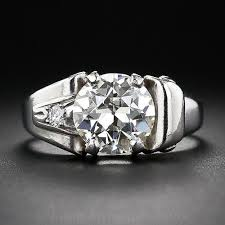 palladium rings 2 25 carat retro diamond and palladium ring