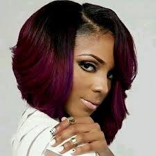 weave bob hairstyles for black women hairstyles for african american women purple hair color with bob