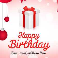 happy birthday card with name and picture