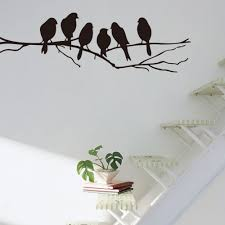 compare prices tree branches wall art online shopping buy low black birds tree branch diy vinyl wall stickers removable home decoration bedroom art decal