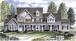 elevation of country farmhouse victorian house plan 95647 family