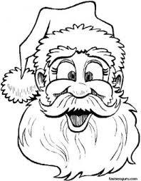 printable coloring sheet santa claus merry christmas