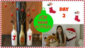 joy wine bottle decoration tutorial diy crafty christmas youtube