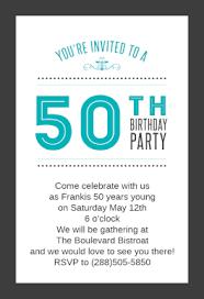 50th birthday invitation template 50th birthday invitation