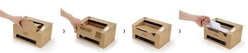 Cardboard Origami - samsung eco conscious origami cardboard mono laser printer