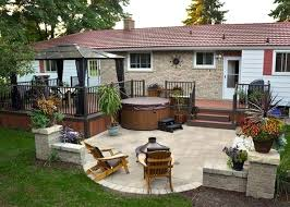 Patio Pictures And Garden Design Ideas Patio And Deck Ideas For Backyard Do It Yourself Backyard Deck