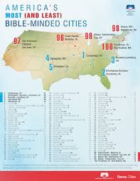 map of america with cities and the most godless city in america is time