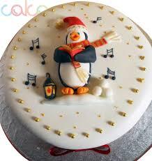 dcc118 penguin designer christmas cakes u2013 cake square chennai