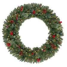 4 ft lighted wreath pre lit clear led lights battery