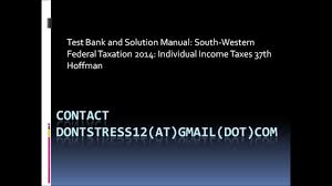 28 2014 individual income tax solutions manual 131930