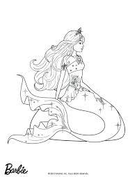 barbie mermaid coloring pages tale book source printable