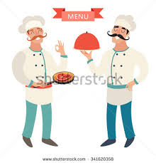 second en cuisine chef cuisine restaurant chef stock vector