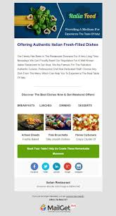 10 best restaurant email templates for food points hotels