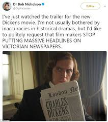 charles dickens biography bullet points dickens film slated by historian for newspaper front page daily