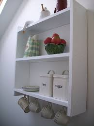 Shelving Bathroom by 60cm Pine White Shelving Unit With Cup Hooks Kitchen Shelves