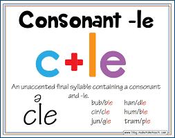 teaching the consonant le syllable type make take u0026 teach