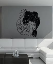 vinyl wall decal sticker koi fish yin yang 1461