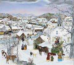 will moses christmas cards church christmas tree by will moses folk americana