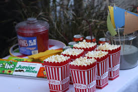 attend party backyard movie
