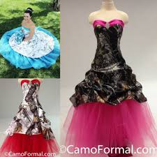pink camo wedding gowns colorful blue pink camo wedding dress 2017 sale