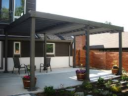 Wood For Pergola by Modern Pergola Attached To House Using Solid Wood With Black