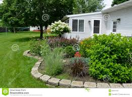 Backyard Flower Gardens by Patio Of Potted Plants Stock Photo Image 55385725