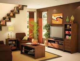Small Rooms Interior Design Ideas Excellent Small Apartment Living Room Idea With Brown And Cream