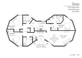 3 bedroom floor plan floor plans 3 bedrooms monolithic dome institute