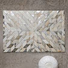 Silver Cowhide Rug Best 25 Cowhide Rug Kitchen Ideas On Pinterest Dining Table Rug
