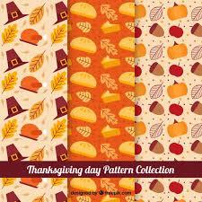 various retro patterns of thanksgiving vector free