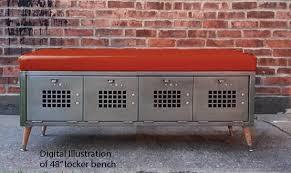 locker benches 48in locker bench seat with vinyl cushion