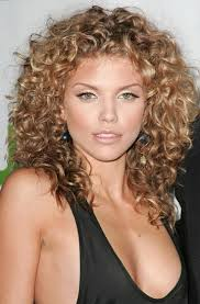 medium length layered curly hairstyles shoulder length curly