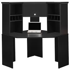 Corner Computer Desk Furniture Modern Black Wood Corner Computer Desk With Hutch For