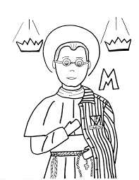 m is for st maximilian kolbe saints to color