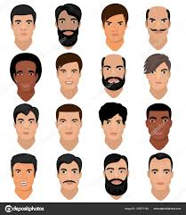 vector skin tone tutorial man portrait vector male character face of boy with hairstyle and
