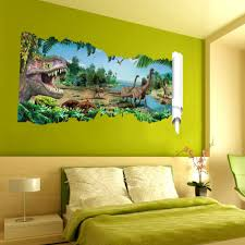 Jurassic Park Decorations Kids Room New Style Dinosaurs 3d Stereo Wall Stickers 3 Styles