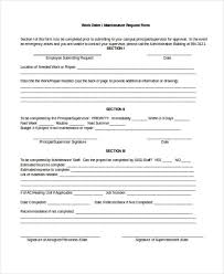 maintenance request form template 22 work order form template
