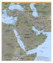 Middle East Map Maproom Physical Climate Regional Middle East