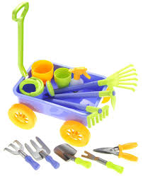 8 Pots by Garden Wagon U0026 Tools Toy Set For Kids With 8 Gardening Tools 4