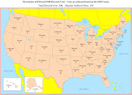 Arizona Map Us by States Electoral Votes Map