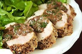 vegan mushroom gravy recipe dishmaps feast on one of mrs crunch u0027s lean tender and tasty pork loin dishes