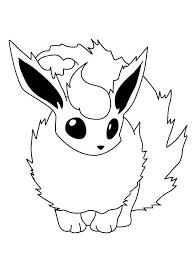 image pokemon coloring pages printable flareon eevee pokemon