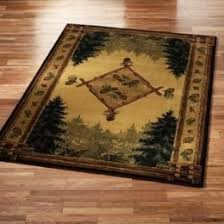 Forest Rug Delectably Yours Com Forest Trail Rustic Cabin Lodge By United Weavers