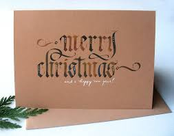 brown christmas cards calligraphy christmas cards on behance