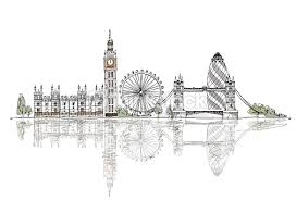 london big ben tower bridge sketch collection of fafmous buildings