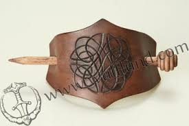 hair clasp celtic knot hair clasp leather hair claps brooch wulflund