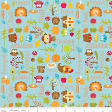 childrens thanksgiving fabric c4030 blue happy