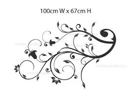 floral vine designs stencils vinyl wall and