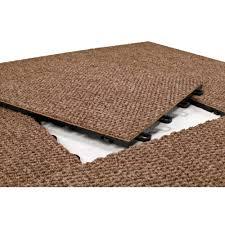 easy installation of interlocking carpet tiles